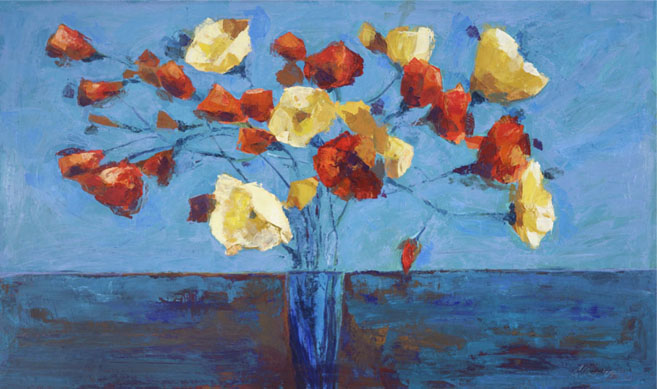 flowers on the table_36x60